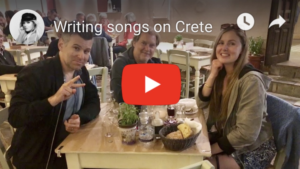 Writing songs on Crete